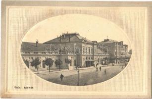 1912 Győr, vasútállomás. Herman Izidor kiadása (EK)