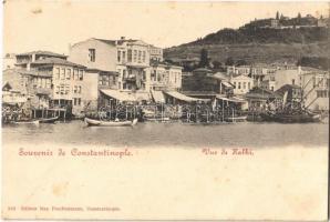 Constantinople, Stamboul, Istanbul; Vue de Halki / Heybeliada, port (fl)