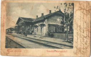 1901 Dunaharaszti, Haraszti; (Budapest Helyiérdekű Vasút) BHÉV vasútállomás. Divald Károly (fa)