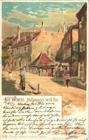 1900 Wien, Vienna, Bécs; Alt-Wien, Nadlergasse im IX. Bezirk / street. K. Stücker 7312. litho s: E. Czech