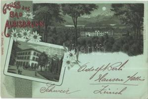1898 Albisbrunn, Bad / spa hotel. Carl Künzli Art Nouveau, floral, litho