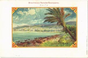 1899 Haifa, Orientreise d. Deutschen Kasierpaares / East travel of the German royal couple. Kunstanstalt H.A.J. Schultz litho