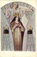 Polska w alegoryi. Serya I. Wydawnictwo Zwiazku Okr. T.S.L. we Lwowie. Anczyc / Polish Art Nouveau s: J. Chudzikowska