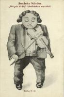 Budapest VIII. Mátyás király kávéház reklámlapja Sovánka Nándor cigány hegedűssel / Hungarian gypsy violinist