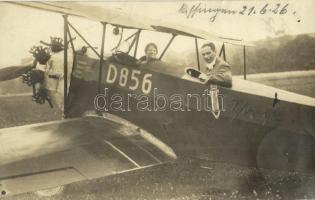1926 Bad Kissingen, Deutsches Flugzeug D 856 / German airplane D 856. photo (fl)