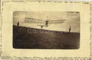 1911 München, Munich; Gleitflugverein, / Gliding Association, German early gliding, photo + Paul Knipping cand. rer. nat. München Gewürzmühlstr. 5. (EK)