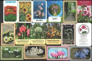 1974-2019 30 db kártyanaptár virág témában
