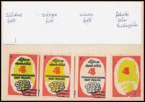 117 db magyar és külföldi gyufacímke bélyegragasztóval ragasztva papírlapokon