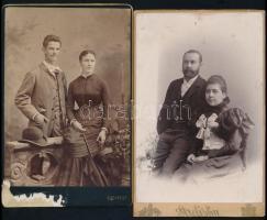 cca 1900 5 db keményhátú portréfotó, közte sérült, 16×11 cm