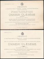 1935-1940 Meghívó a szegedi Ferenc József Tudományegyetem ünnepi ülésére, 5 db