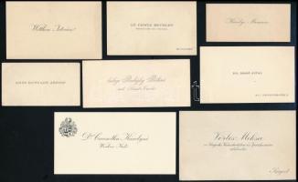 cca 1920-1930 30 db névjegykártya (gróf Hunyady József, Károlyi Marianne, Szent-Királyi Béla, Le Comte Bethlen, Gundelfingen Ödön, stb.)