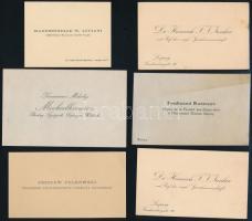 cca 1920-1930 8 db külföldi névjegy (Alexandre Lamouche, Dr. Heinrich F. J. Junker, stb.)