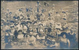 1908 Abbázia, fürdődivat, fotólap, 9×14 cm