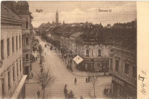 1914 Győr, Baross út, Schöpf István és Kocsis Jenő üzlete