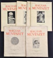 1927-1938 Magyar Művészet folyóirat 9 száma. Változó állapotban.