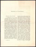 1920 A Magyar Püspöki Kar által kiadott körlevele a háborúval és annak következményeivel kapcsolatban, 7p