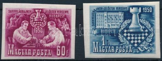 1950 Sakk (I.) vágott sor 2 értéke (záróérték hiányzik)