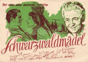 1950 Schwarzwaldmädel / The Black Forest Girl, film advertisement, 1950 Schwarzwaldmädel film reklám