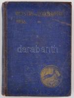 1936 Postás Szaknaptár XXXX. évf. Szerk.: Dr. Kovács József. Bp., Urbányi-ny. Kiadói kopott egészvászon-kötés.