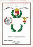 2001 a Tartalékos Katonák Országos Szövetsége millenniumi emléklapja