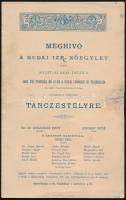 1886 A budai izraelita nőegylet meghívója a nőegyleti alap báljára, Uray Endre bárónak megküldve