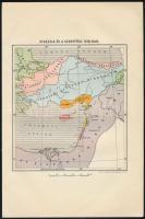 Kisázsia és a Szentföld 1218-ban, térképmelléklet, M. kir. honvéd térképészeti intézet, 23,5×15,5 cm