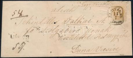 ~1867 15kr ajánlott levélen NAGYVÁRAD AJÁNLOTT - Dunavecse