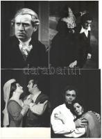 cca 1970 Az Operaház énekesei, 12 db fotó, közte sajtófotók, nagy részük jelzett (Mezey Béla, stb.), hátuljukon feliratozva, különböző méretben