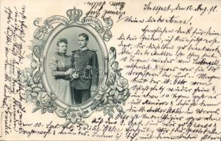1898 William Frederick, Prince of Wied, Princess Pauline of Württemberg