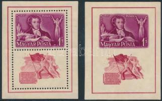 1949 Puskin blokkpár
