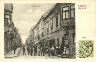 1906 Győr, Király utca, Belső Pál, Back Hermann üzlete. Kiadja Berecz Viktor. TCV card