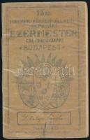 1932 A 13. számú Magyar Királyi Állami Gépgyári Ezermester Cserkészcsapat próbafüzete, bejegyzésekkel, 18p