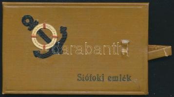 cca 1950-1960 Siófoki emlék 10 képes leporelló, szép állapotban, 8,5 x 5,5 cm