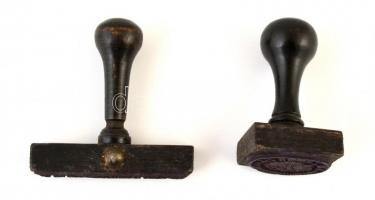 cca 1910-1918 K.u.K. Division Munitions Park N. 31. Gruppe II. pecsétek, 2 db, 6x3x3 cm és 6,5x1x6,5 cm