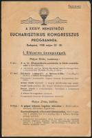 1938 Bp.,A XXXIV. Nemzetközi Eucharisztikus Kongresszus tervezett programja, szakadással 7p.