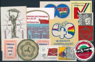 15 db szocialista mozgalmi levélzáró