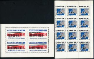 17 db Eurofilex 85 és 26 db Aerofila 63 levélzáró kisív