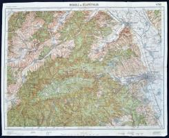 1932 Miskolc és Bélapátfalva katonai térképe,43x53 cm