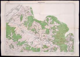 1928 Somoskőújfalu katonai térképe, Magyar Királyi Állami Térképészet, 65x86 cm
