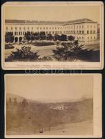 cca 1890 3 db városképes fotó: München + 2 azonosítatlan 18x12 cm