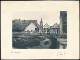 1941 Szentendre, Felméri művészfólián keresztül készült fotója, aláírt, szép állapotban, 12×17 cm