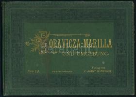 cca 1890 Oravicza-Marilla és környéke, 12 db fénynyomatot tartalmazó vászonkötésű, aranyozott fedőlapú album, jó állapotban