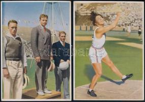 1932 Los Angelesi Olimpiai Játékok 14 db gyűjtőkép 12x17 cm