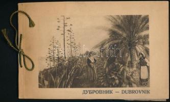 cca 1920 Dubrovnik és környéke, 20 db fénynyomatot tartalmazó album, jó állapotban, 16×24 cm