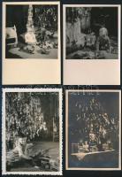cca 1920-1950 Régi karácsonyi gyermekjátékok, 4 db, 9x6 cm