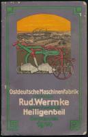 1914 Haupt-Katalog der Ostdeutschen Maschinen-Fabrik vorm. Rud. Wermke Aktien-gesellschaft Heiligenbeil in Ostrpreußen, német nyelvű gép árjegyzék, szövegközti illusztrációkkal, foltos, 149 p.