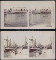 cca 1900 von Josef Kossak k.u.k. Hoffotograf Temesvár. 2 db sztereo fotó. Olaszországról