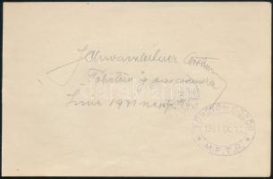 1931 Schwarzleitner Arthur, az MFTR Töhötöm gőzhajó parancsnokának aláírása a gőzös pecsétjével