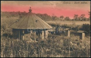 cca 1930 Tófalu, kerti méhes, képeslap