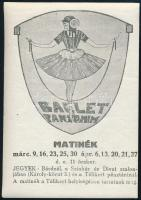 cca 1910 Balett pantomim reklám címke10,5x 7,5 cm